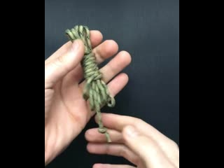 Как быстро смотать верёвку