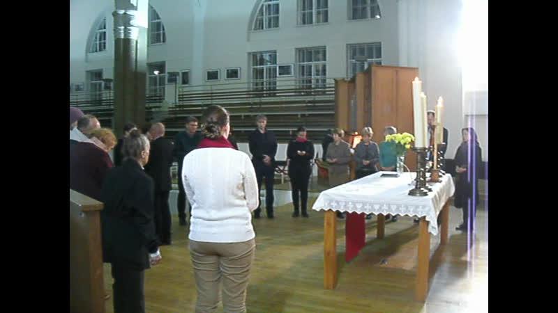 Petrikirche 287 Abendmahl mit Pastor Ericht