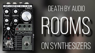 the magnificient ROOMS of Death By Audio - Review & test on synths and drum machines