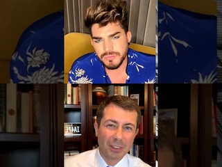 Adam Lambert IG live chat with Pete Buttigieg   2020-09-10