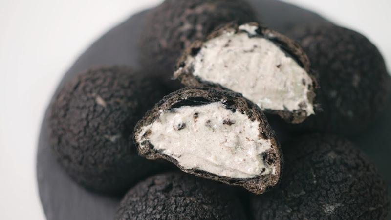 오레오 슈크림 쿠키슈 만들기 Oreo Cream Puffs Recipe Cookie Choux 한세 HANSE