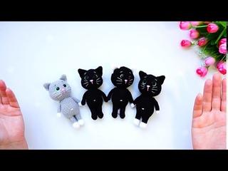 Кот крючком. Черный кот амигуруми на хеллоуин - halloween. Авторская работа