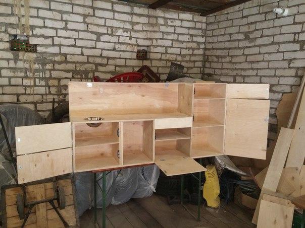 Кухня для дочки, сделанная папой