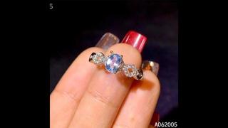 Kjjeaxcmy, изящные ювелирные изделия, имитация серебра, новинка, женское кольцо с натуральным аквамарином, прекрасное