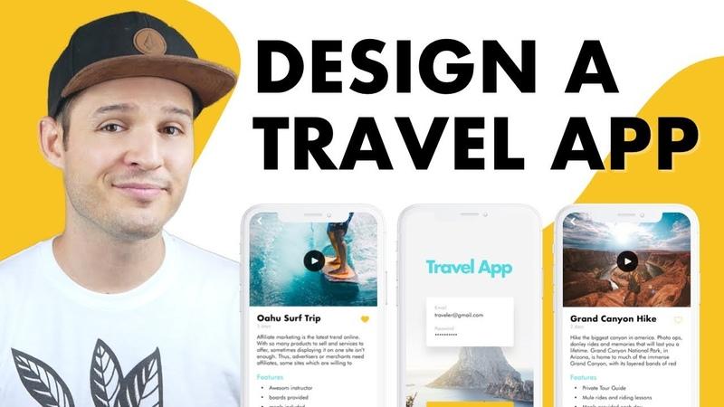 Design a Travel App UI | UI Design in Sketch
