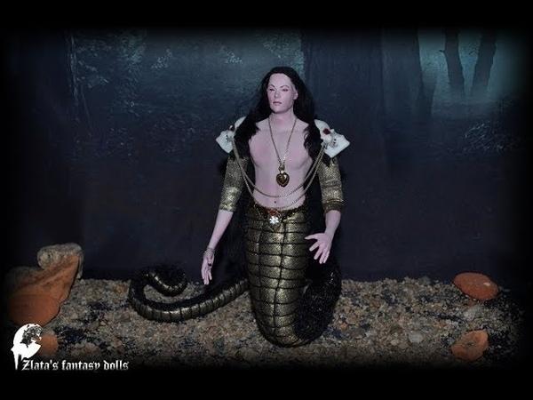 Art Doll snake man naga OOAK by Zlata s fantasy dolls