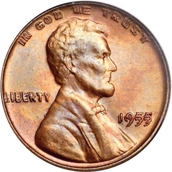 Двойной пенни 1955 года: два лица Линкольна Как и филателии, нумизматике тоже досталась своя доля изделий, выпущенных с ошибками, которые теперь столь желанны для собирателей монет по всему