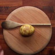 """id_49326 Картошка """"Хассельбек"""" с сыром и мясным фаршем 😋  Автор: Chef Club  #gif@bon"""