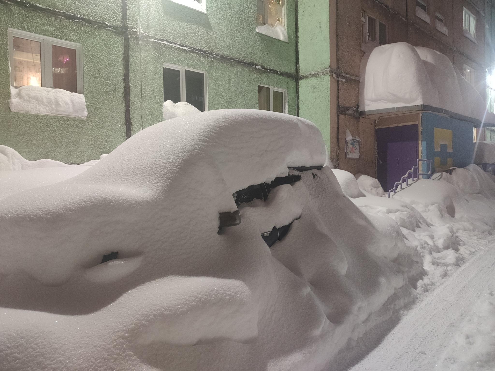 В Норильске 5 дней подряд идёт снег