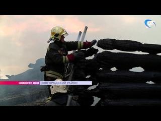 Пожар в Красных Станках уничтожил два жилых дома