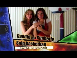 Баскетбол на разрезание с Кэндл и Кимберли (HD-качество)