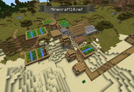 сиды на майнкрафт 0.13.1 зимняя деревня #2