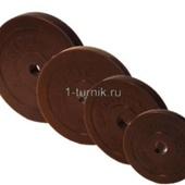Диски для штанг 26 мм 10 кг обрезиненные