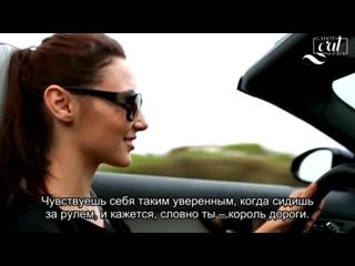 Actress Gal Gadot Drives the F-TYPE in Pebble Beach _ Jaguar USA [Rus Sub]