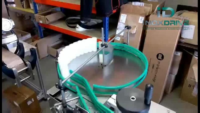 Линия для нанесения этикеток с трехроликовой системой