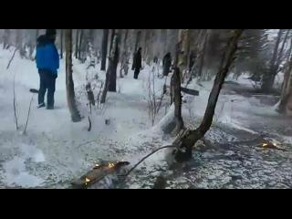 Останки упавшего вертолета на Верхней Березовке (Видео с места происшествия)