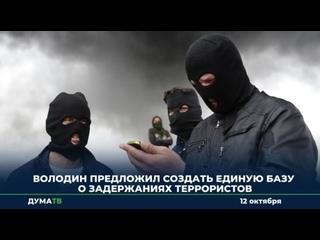 Володин предложил создать единую базу о задержаниях террористов