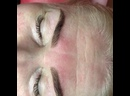 Заживший перманентный макияж бровей. Оформление и окрашивание бровей краской.