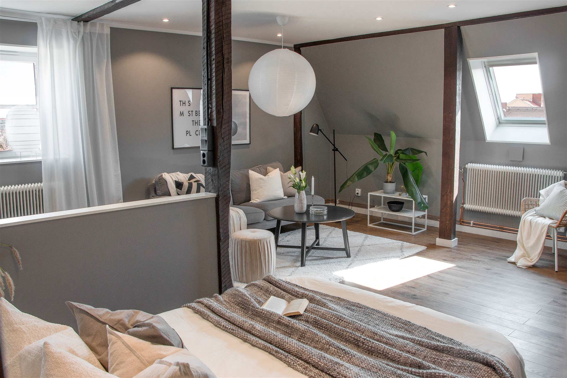 Интерьер скандинавской квартиры-студии 50 кв.