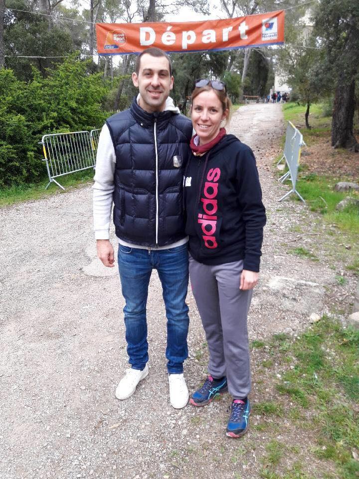 С женой Гаэль