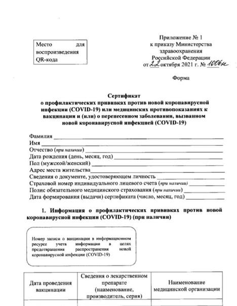 СМИ: Минздрав России утвердил форму сертификата о ...