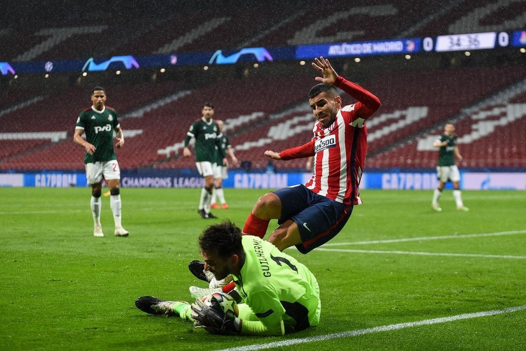 Атлетико Мадрид - Локомотив, 0:0. Маринато Гильерме