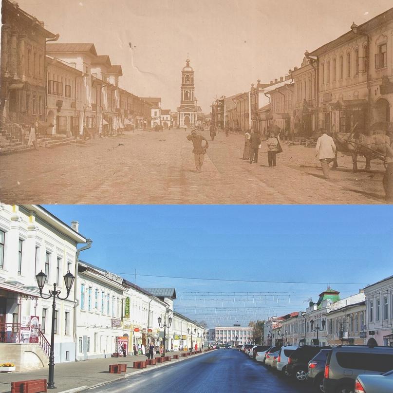 Улица Московская 1902-1903 гг. / 2020 г.