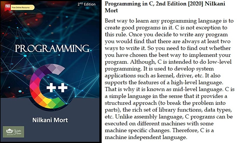 Programming in C, 2nd Edition [2020] Nilkani Mort