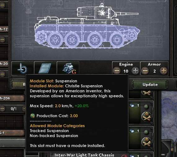 Дневник разработчиков Hearts of Iron IV — Конструктор танков, изображение №5