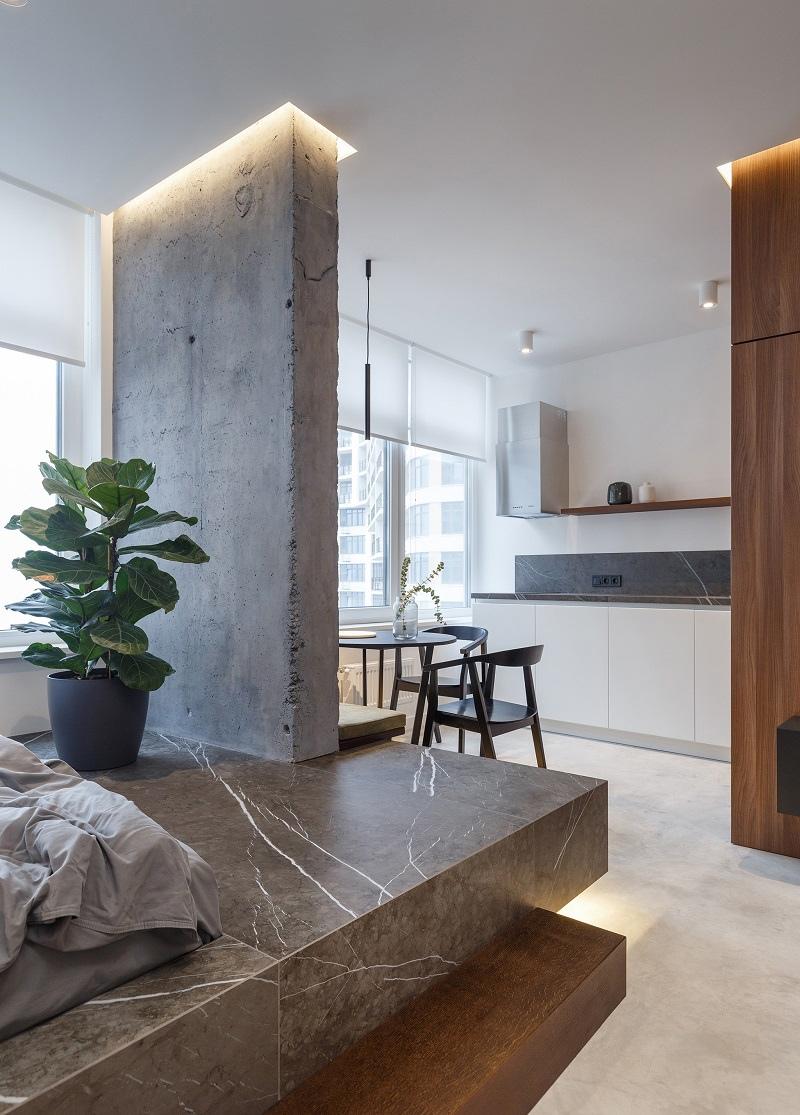 Дизайн квартиры-студии 39 м в Одессе, Украина.