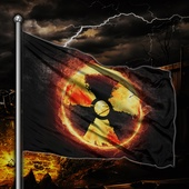 Флаг Знак радиации диз.№1