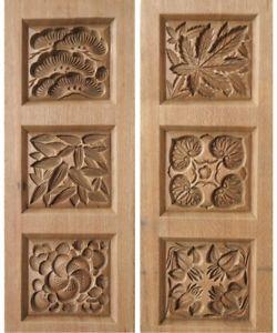 Японские деревянные резные формы Кашигата, изображение №27
