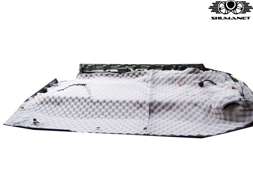 Комплексная шумоизоляция Mercedes-Benz V-Class, изображение №56