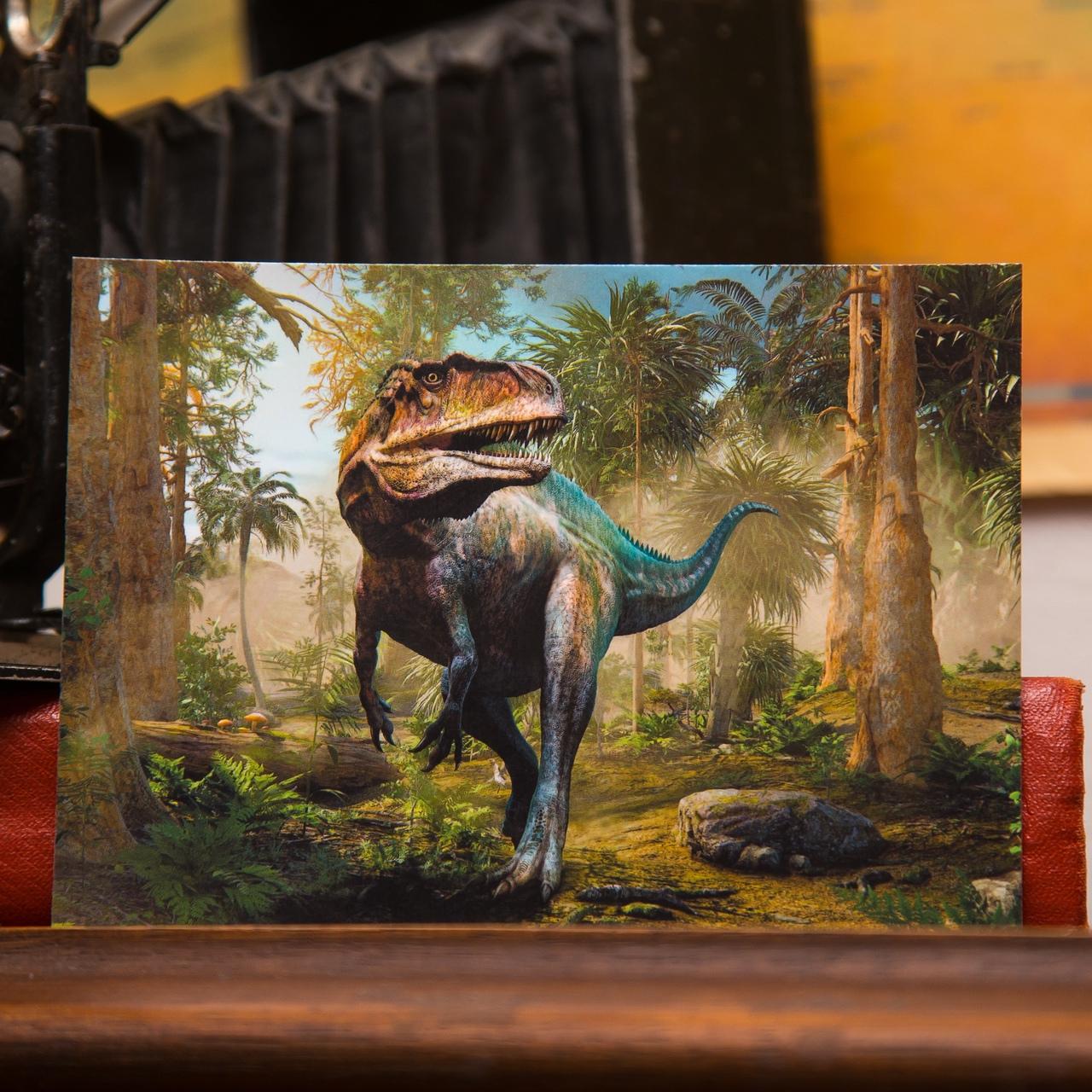 """Открытка """"Акрокантозавр"""""""