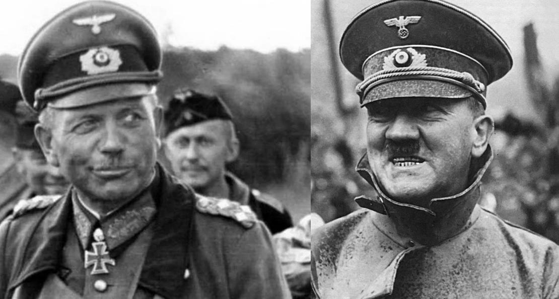 Гитлер и Гудериан