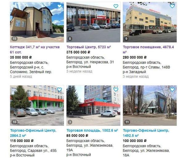 На «Авито» распродают имущество братьев Фуглаевых. Общая сумма за объекты недвижимости в Белгороде составляет 2... Белгород