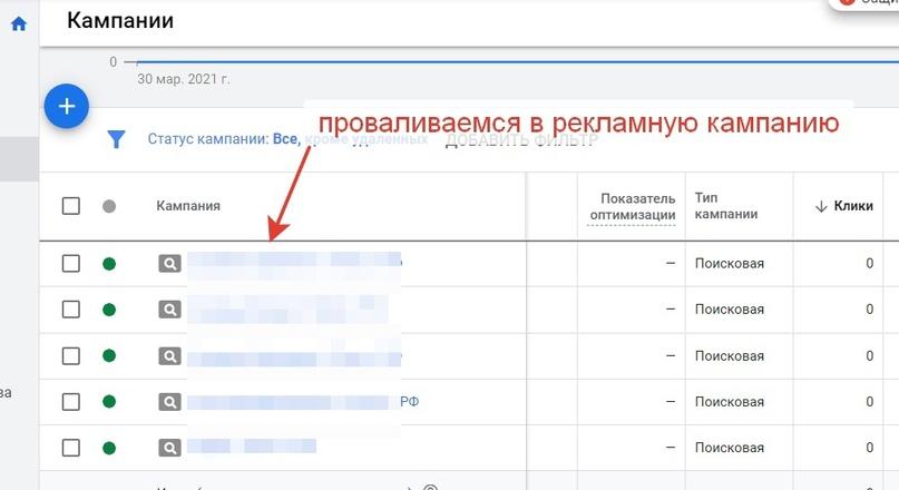 Проверка параметров кампаний Google Ads