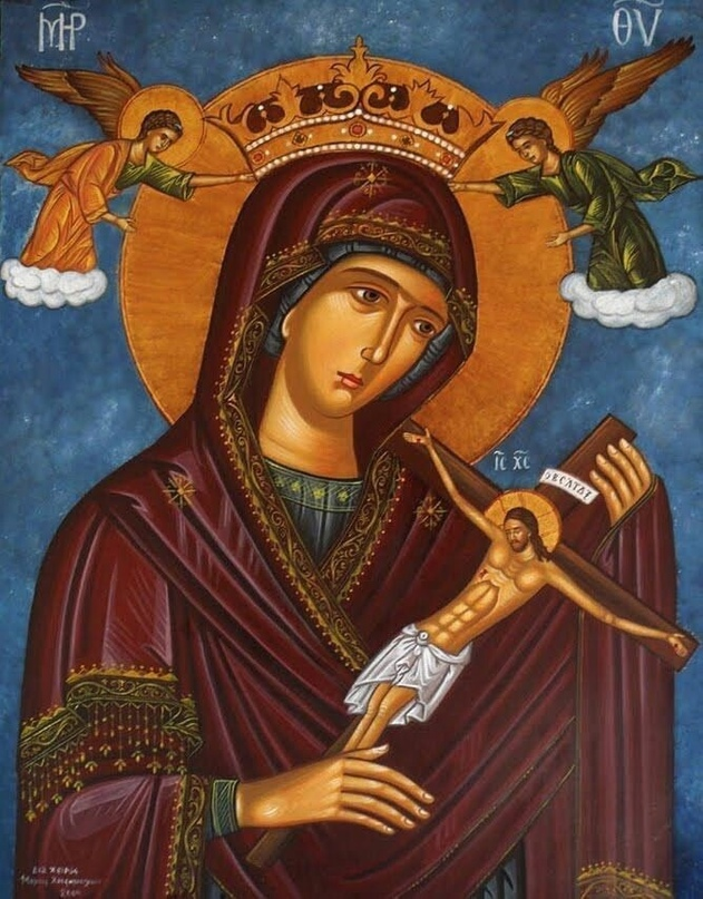 На острове Липси в Греции, в храме Иоанна Богослова хранится редкая икона, на ко...