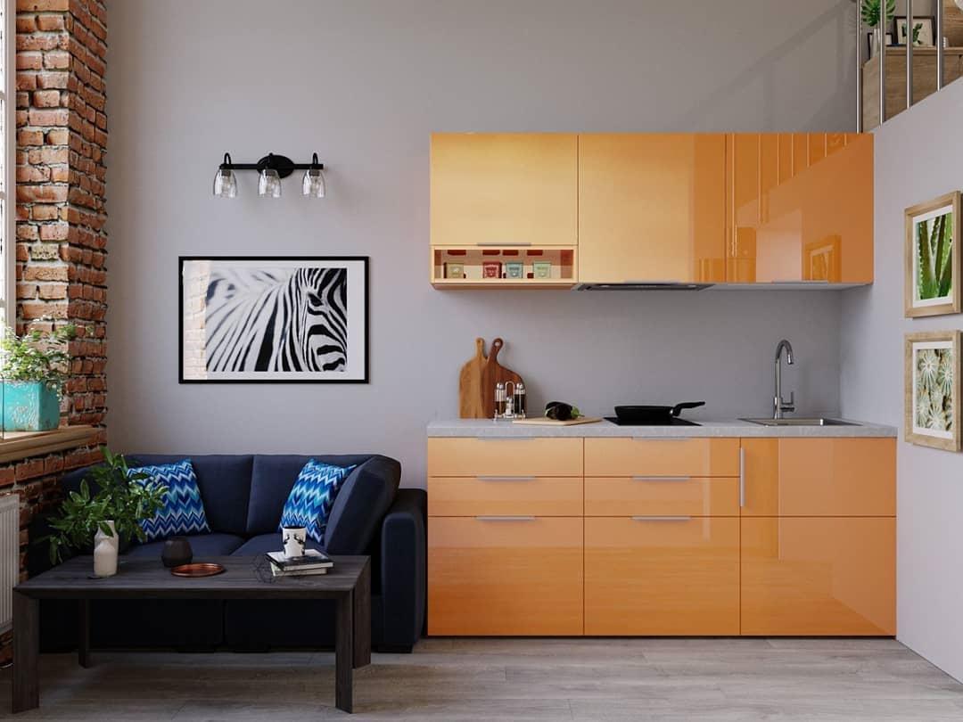 Проект маленькой двухуровневой квартиры-студии всего 16 кв.