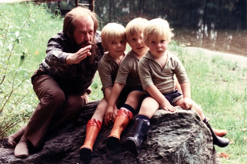 С детьми в Вермонте. Фото: Из личного архива Натальи Солженицыной