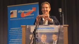 Dr. Alice Weidel beim Bürgerdialog »Perspektiven für unser Land« vom  in Mannheim