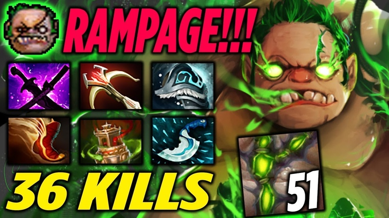Pudge Rampage 36 KILLS Highlights Dota 2