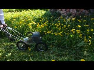 Сделал сам мощную газонокосилку для высокой травы своими руками