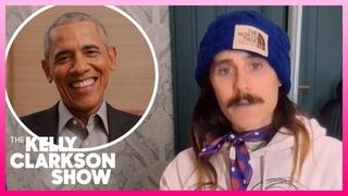 Jared Leto Pillsbury Doughboy-ed President Barack Obama