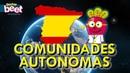 🇪🇸 COMUNIDADES AUTONOMAS ESPAÑA Mapa Banderas para Niños