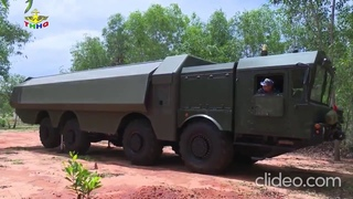 Тренировка боевых расчётов береговых подвижных ракетных комплексов «Бастион П» во Вьетнаме