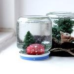 Снежная банка — новогодний сувенир своими руками