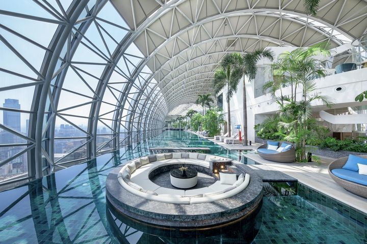 InterContinental Chongqing Raffles City   L42 Residential Clubhouse / CL3 Architects Limited