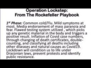 "Operation ""Lock Step"" (2010) - Rockefeller Foundation Blueprint."