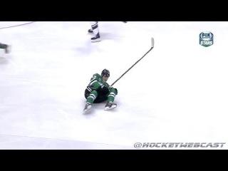 Matt Cooke Knee-on-Knee Hit on Valeri Nichushkin - March 8, 2014 (HD Dual-Feed)